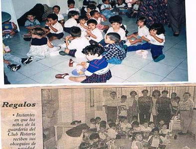 ENTREGA REGALOS NIÑOS GUARDERIA DE LA ANUNCIACIÓN (1996)