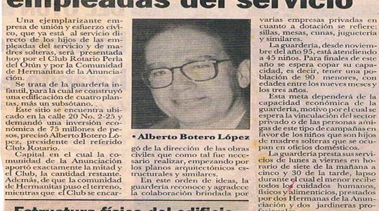 INAUGURACIÓN OFICIAL DE LA GUARDERIA DE LAS HERMANITAS DE LA ANUNCIACIÓN (1996)